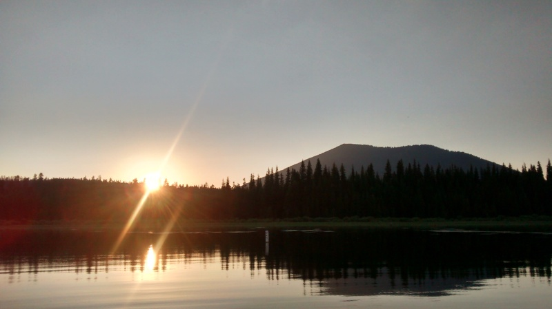Sunsetting Over Cultus Butte